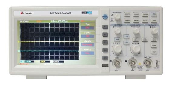 Osciloscópio Digital Profi 2 Canais 50mhz Col Mvb-dso Minipa