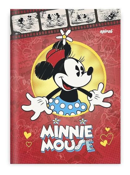 Caderno Minnie Vermelha Brochura 1/4 Pequeno 96 Folhas
