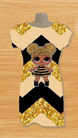 Vestido Infantil Lol Queen Bee Lol Rara Boneca Lol