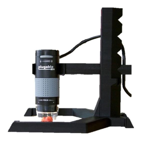 Suporte Base Elevatória Ajustável Microscópio Digital Usb