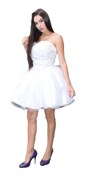Vestido Noiva Curto Casamento Civil 15 Anos Tomara Que Caia