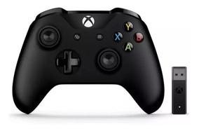 Controle Xbox One S Wireless Preto Original + Adaptador Usb