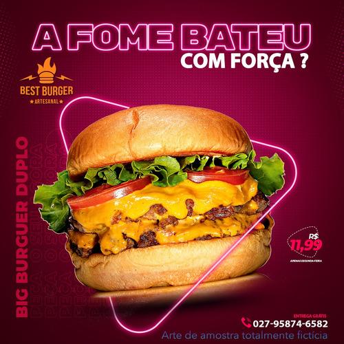 Artes Para Redes Sociais - Fast Food
