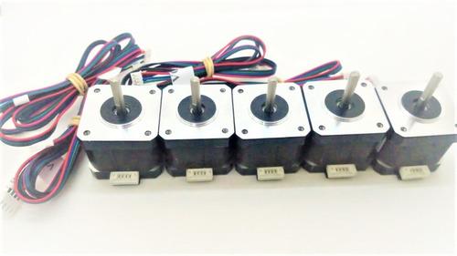 Imagen 1 de 3 de Kit 5 Motor Nema 17 Alto Torque Cnc Impresora 3d