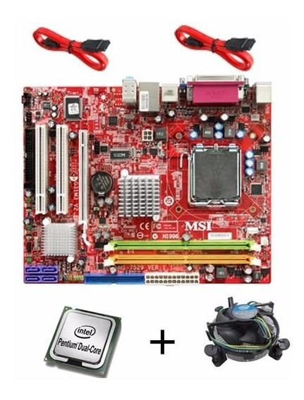 Kit G31m3 V2 + Dual Core Suportaté 2 Quad C/ Espelho