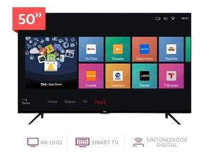Tv Tcl 50 4k Smartv Hdr Netflix 2años+soporte +teclado