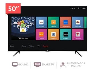 Tv Tcl 50 4k Smartv Hdr 2años +soporte +3mesesgratis Netflix
