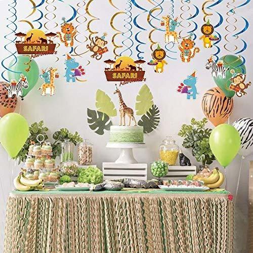 WERNNSAI Selva Animales Fiesta Colgante Decoraciones Safari Tema Suministros para la Fiesta Remolino Colgante para Ni/ños Cumplea/ños Baby Shower Decoraci/ón