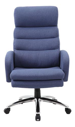 Silla de escritorio Newmo Helena  azul con tapizado de tela