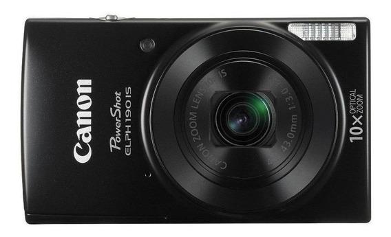 Canon PowerShot ELPH 190 IS compacta negra