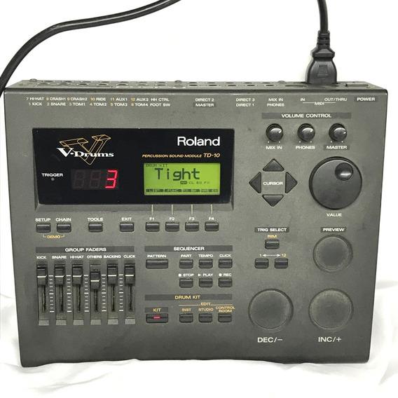 Módulo De Bateria Roland Td 10 V Drums Japan - Fotos Reais