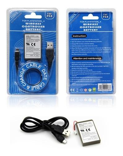 Bateria Manete Playstation 4 Play Ps4 Dualshock 2000mah