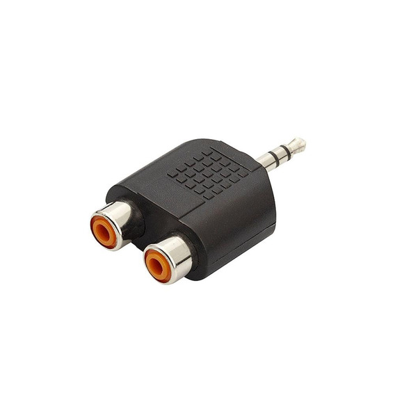 Adaptador 2 Rca Femea X P2 Macho Áudio Jack Stereo