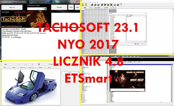 Tachosoft + Nyo 2017 + Licznik 4.8 + Etsmart Con Script Asia