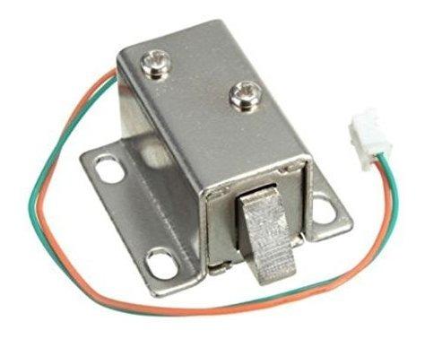Lengua del caj/ón de la puerta abajo cerradura el/éctrica solenoide DC 6V//12V dise/ño cerradura