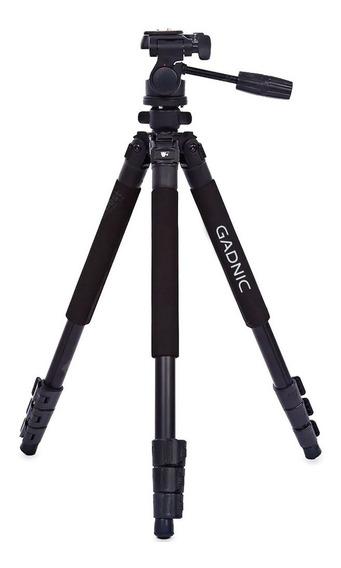 Tripode Pro Gadnic Fotografos Reflex Aluminio + Cabezal