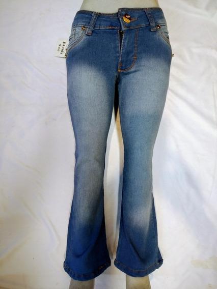 Jeans Parris De Niña Mezclilla Y Gabardina