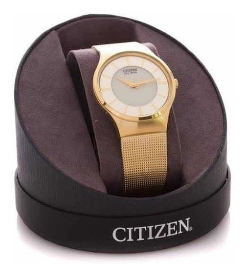 Reloj Citizen Dorado Eco-drive Modelo Bj-6462-52p Original