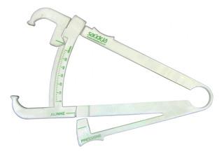 Adipômetro De Pvc Branco Com Verde - Saúdejá