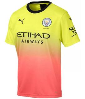 Camiseta Colorida Manchester City Away 2020 Oferta