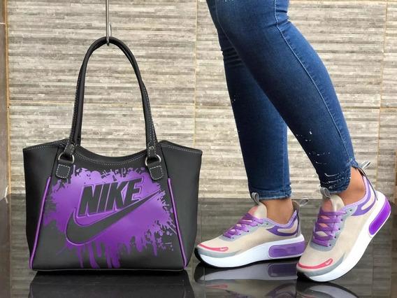 Zapatos Mujer, Zapatillas Nike +bolso Mujer, Kit Dama
