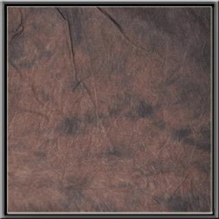 Cowboystudio Algodon Pintado A Mano Tie Dye Marron Oscuro M