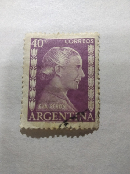 Estampilla Argentina 1952 522 Eva Perón 40 Centavos