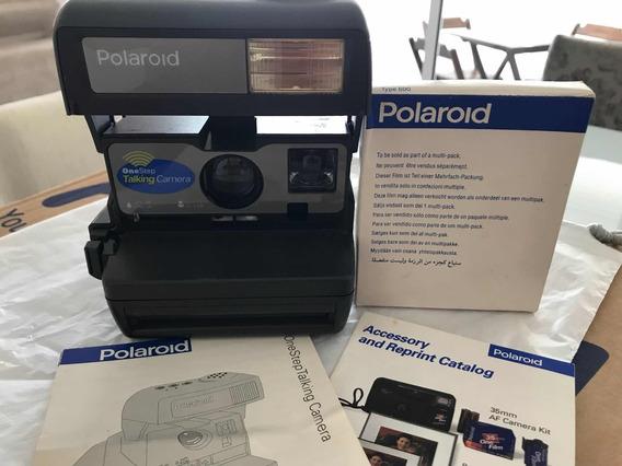 Polaroid 600 Onestep Talking Câmera Instantânea - Antiga
