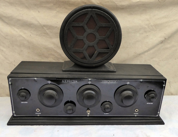 Radio Valvulado Anos 20 Antigo Ac Dayton X-l-5 / Silverstone