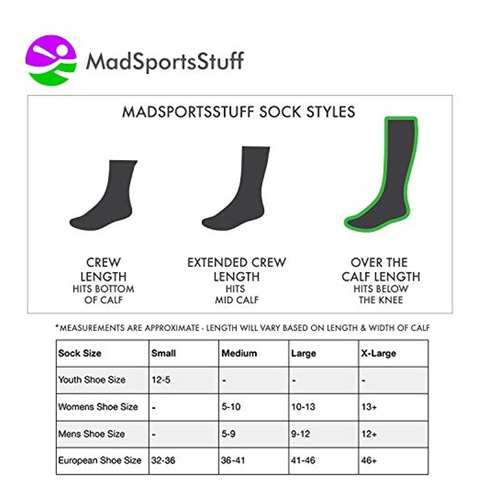 MadSportsStuff Personality Word Socks Over The Calf Length