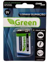Bateria Manganes 9v Green Santana - 10 Unidades
