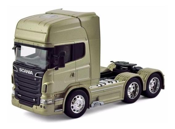 Miniatura Caminhão Scania V8 R730 Trucado 6x2 Escala 1:32