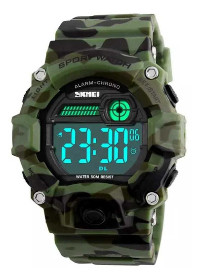Relógio Digital Skmei Camuflado Barato Unissex Promoção