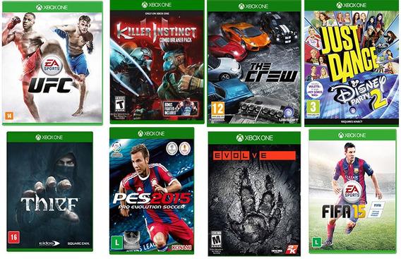 Combo 8 Jogos Monop+the Crew+pes+fifa+envolve+thief Xbox One