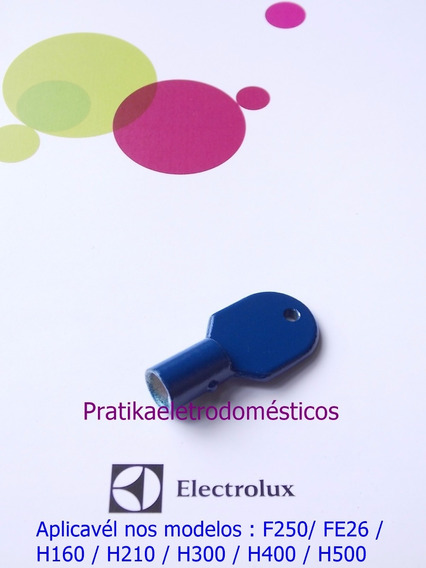 Chave Do Freezer Electrolux Azul Fe240 Ffe24 Fe26 H160 H210