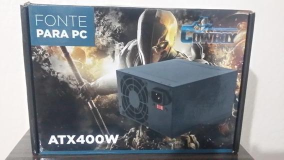 Fonte Gamer 400w Reais Atx 20+4p Silenciosa Para Pc Desktop
