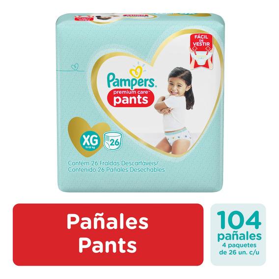 Pañales Pampers Pants Premium Care Ver Talles Pack X4