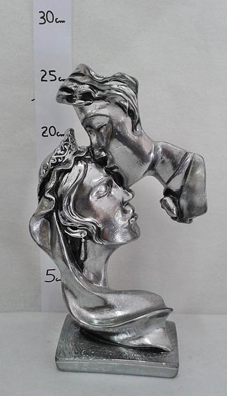Estátua Enfeite Luxo Decoração Beijo Alma Gêmea - Exclusivo