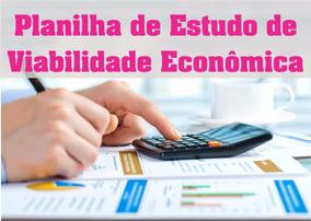 Planilha De Estudo De Viabilidade Econômica 4.0 Em Excel