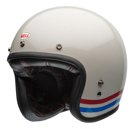 Capacete Bell Custom 500 Stripes Branco Lançamento