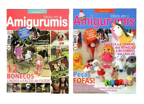 Kit 2 Revistas Amigurumis Bichinhos Crochê