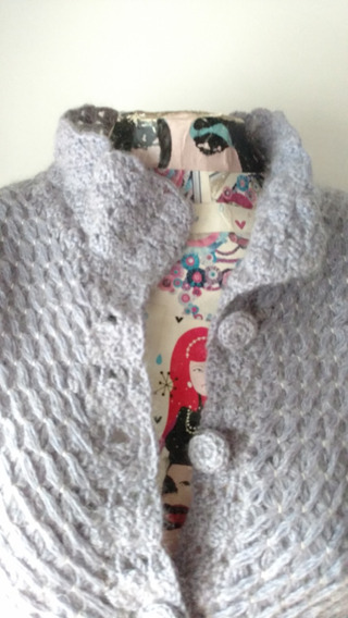 Saquito Tejido Telar / Crochet Hecho A Mano Talle M
