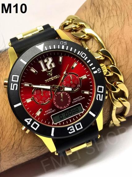 Relógios Masculinos + Caixa+*brinde*(pulseira) Barato