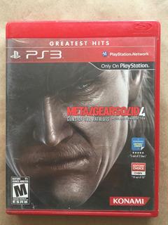 Metal Gear Solid 4 Ps3. Envíos Todo Chile