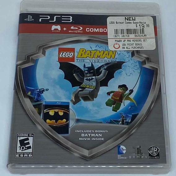 Game Lego Batman Ps3 + Blueray Batman O Filme - Americano