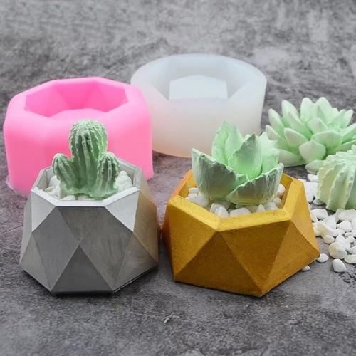 Molde De Silicone Vasos 3d Resina, Concreto Artesanato Vela