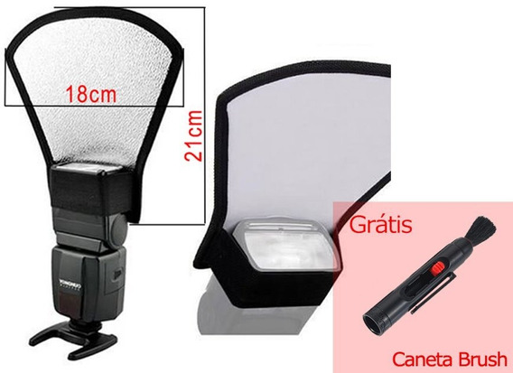 Rebatedor Para Flash Speedlight Externo Canon Nikon + Brush