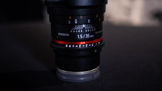 Lente Rokinon 35mm T1.5 Cine Ds Sony E-mount