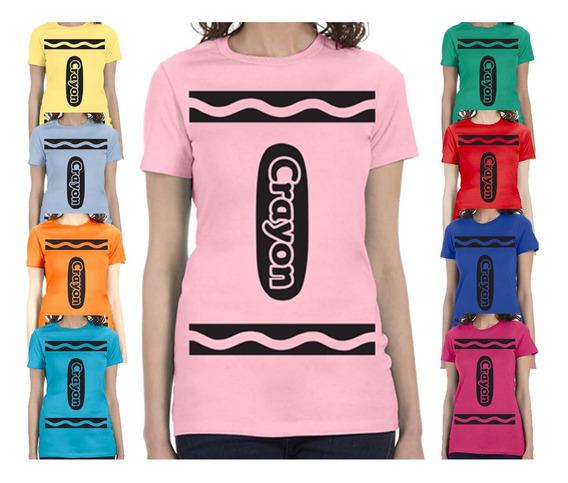 Hermosa Playera Disfraz Crayolas Todos Los Colores Y Tallas