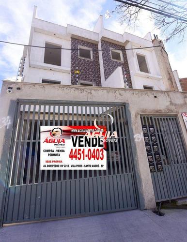 Imagem 1 de 12 de Cobertura Com 2 Dormitórios À Venda, 45 M² Por R$ 360.000,00 - Vila Helena - Santo André/sp - Co1006